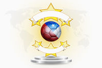 Chile soccer ball emblem
