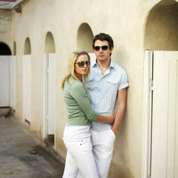 Couple in sunglasses posing for the camera