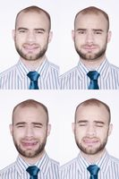 Different faces of a businessman