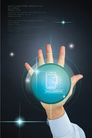Popular : Hand gesture with digital marketing concept