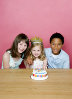 Kids celebrating birthday