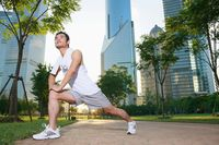 Man exercising in the park
