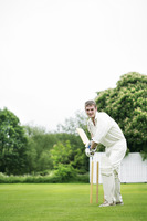 Man holding a cricket bat