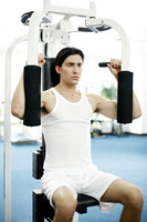 Man working out in the gymnasium