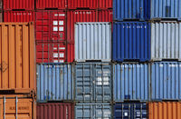 Popular : Shipping containers in storage yard