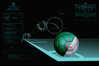 Taking a corner infographic with algeria soccer ball