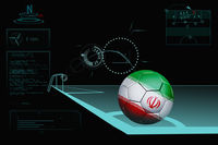 Taking a corner infographic with iran soccer ball