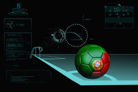 Taking a corner infographic with portugal soccer ball