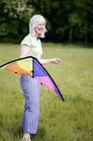 Woman holding a kite