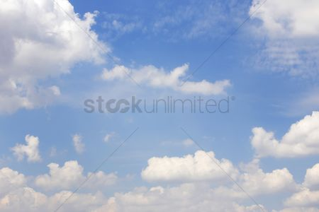 Environment : Clouds against the clear blue sky