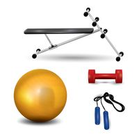 A set of exercise equipments