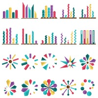 Popular : Abstract design of elements