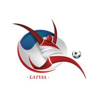 Abstract latvia football player