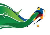 Abstract soccer player design