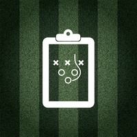 American football game plan on striped background