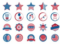 Popular : American independence day icons