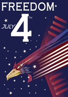 American independence day poster