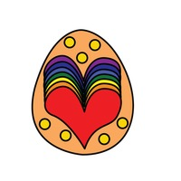 Popular : An easter egg isolated over white background