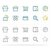 Assorted shopping icons