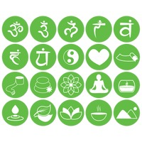 Assorted yoga and zen icon set