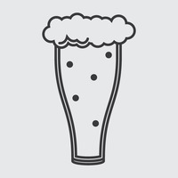 Popular : Beer glass with froth