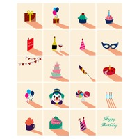 Birthday party concept icons