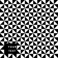 Black and white triangle element background