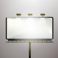 Popular : Blank advertising billboard