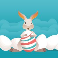Popular : Bunny with eggs