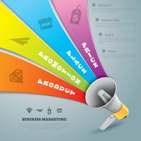 Business marketing infographic design
