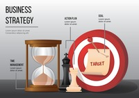 Business strategy infographic