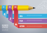 Business strategy infography