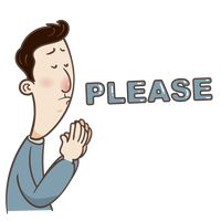 Cartoon Cute Adorable Emoticon Begging Beg Expression Expressions ...