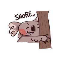 Cartoon koala bear sleeping