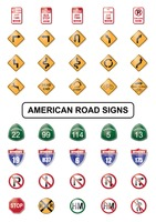 Popular : Collection of american road sign