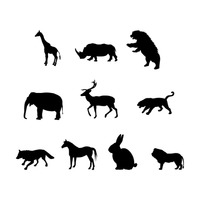 Collection of animals silhouette