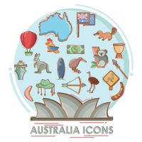 Collection of australian icons