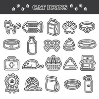 Popular : Collection of cat icons