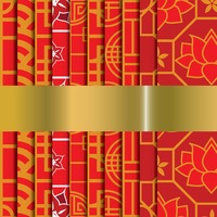 Collection of chinese pattern background