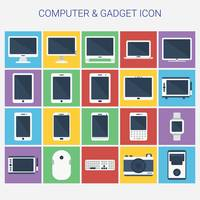 Collection of computer and gadget icons