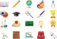 Collection of educational icons