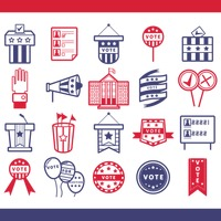 Popular : Collection of election icons