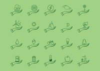Collection of environment protection icons