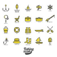 Collection of fishing icons