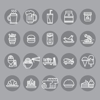 Collection of food and drink icons