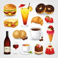 Popular : Collection of food and drink icons