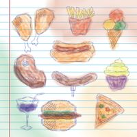 Collection of food related sketches