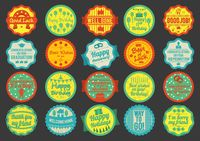 Popular : Collection of greeting labels
