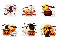 Collection of halloween designs