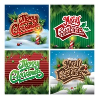 Collection of merry christmas card design
